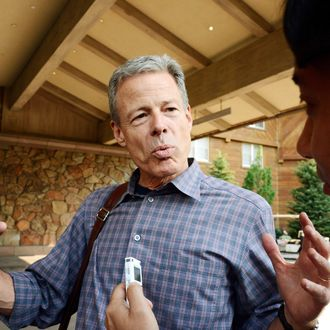 Jeff Bewkes, Chairman of the Board and CEO of Time Warner Inc., arrives for the Allen & Company Sun Valley Conference on July 10, 2012 in Sun Valley, Idaho. Warren Buffett, Bill Gates and Mark Zuckerberg have been invited to attend the conference which begins Tuesday.