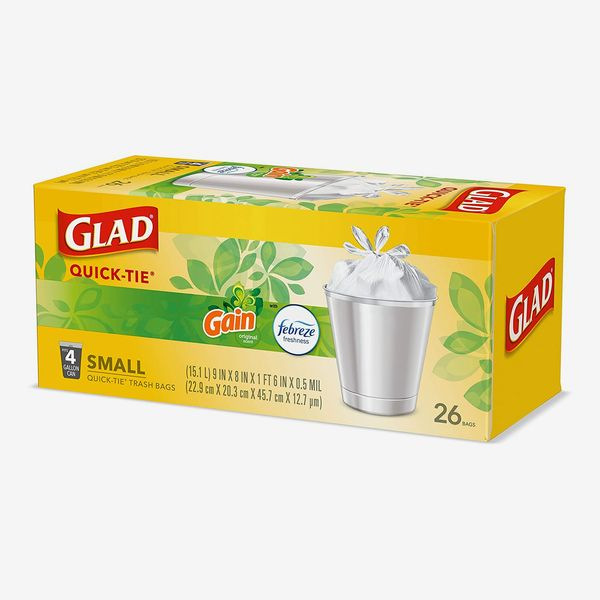 Glad OdorShield Small Trash Bags, 26-Count (Pack of 6)