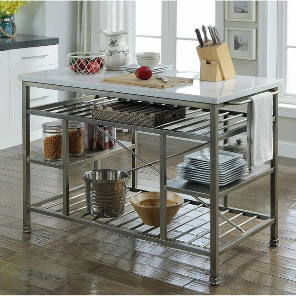 Detlev Prep Table with Marble Top