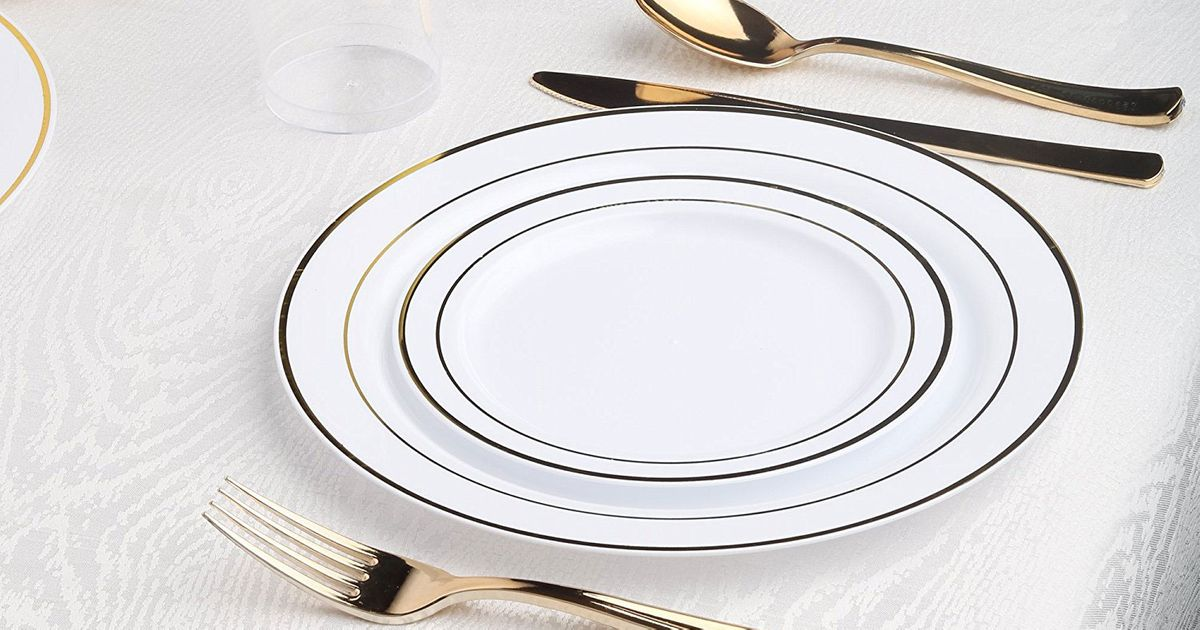 Best Fancy Disposable Plates on Amazon