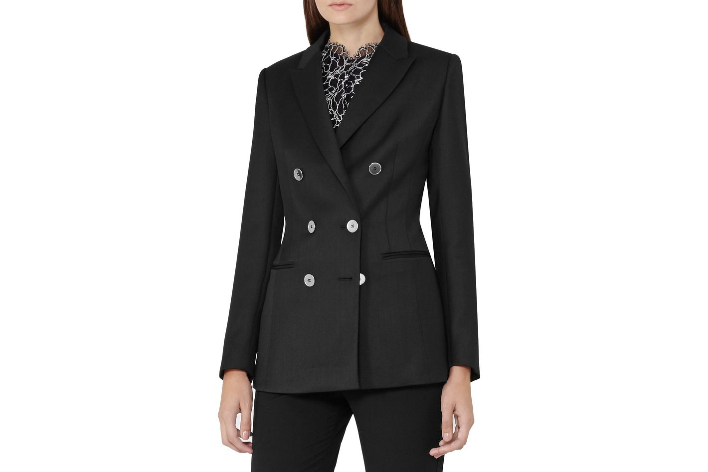 Reiss Tahlia Double-breasted Blazer