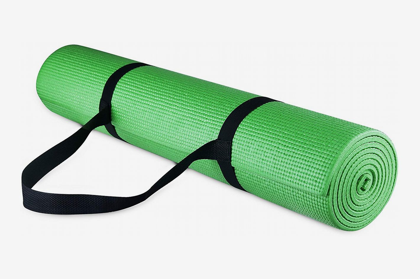 BalanceFrom GoYoga All-Purpose 1/4-Inch Yoga Mat with Carrying Strap
