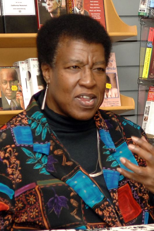 "Octavia E. Butler during Octavia E. Butler Discusses Her New Book ""Fledgling"" at Eso Won Books in Los Angeles, California. (Photo by Malcolm Ali/WireImage)"