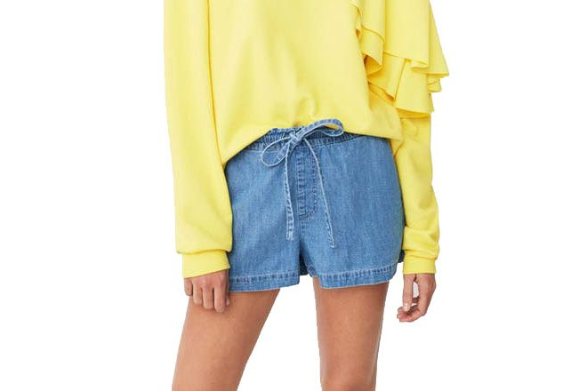 Mango Medium Denim Shorts