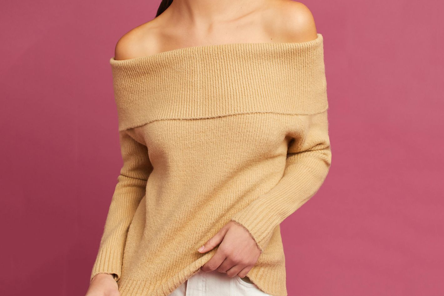 Cozy Off-the-Shoulder Pullover