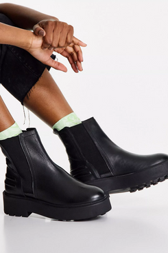 ASOS Design Arthur Leather Padded Chelsea Boots