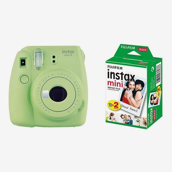 instax Mini 9 Camera - Lime Green + Film 20 Shot Pack