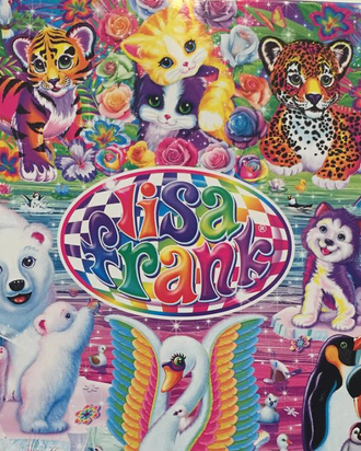 These guys — available in tarot card form. Instagram/Lisa Frank Inc.