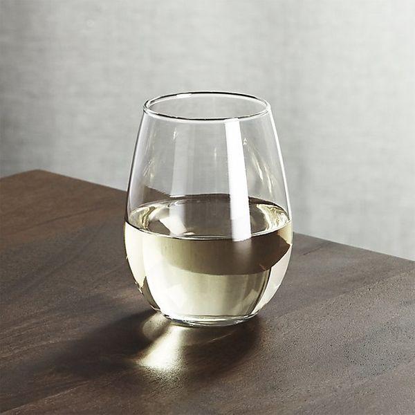 Crate & Barrel Stemless Wine Glass