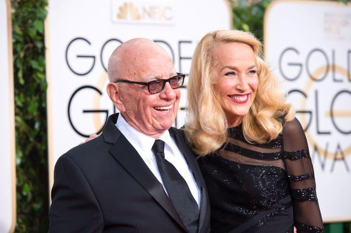 Aww, Rupert Murdoch and Jerry Hall!