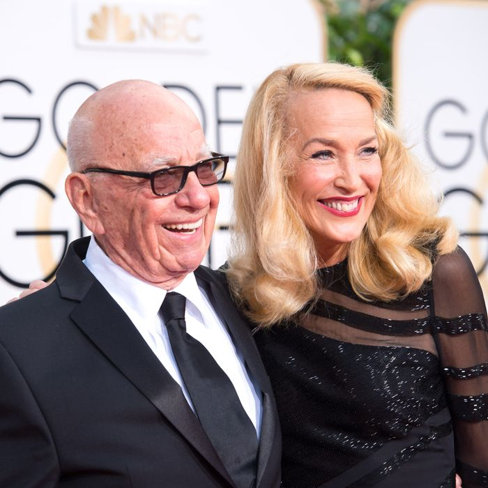 Aww, Rupert Murdoch and Jerry Hall!