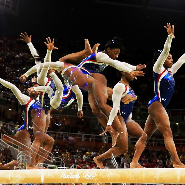 Simone Biles in the all-around final.