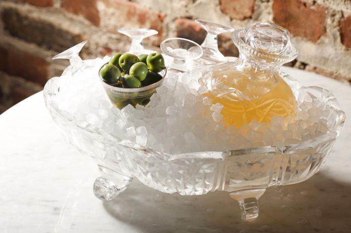 Castelvetrano-olive vodka.