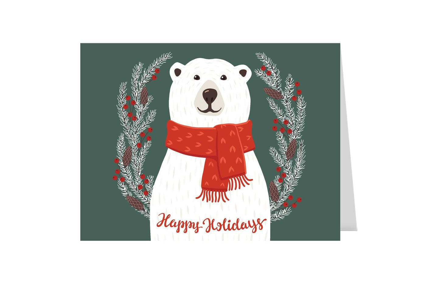 Smiling Polar Bear Holiday Card Pack