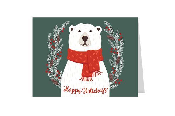 Smiling Polar Bear Holiday Card Pack