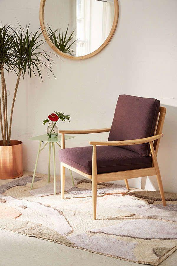 Gabriella Purple Arm Chair