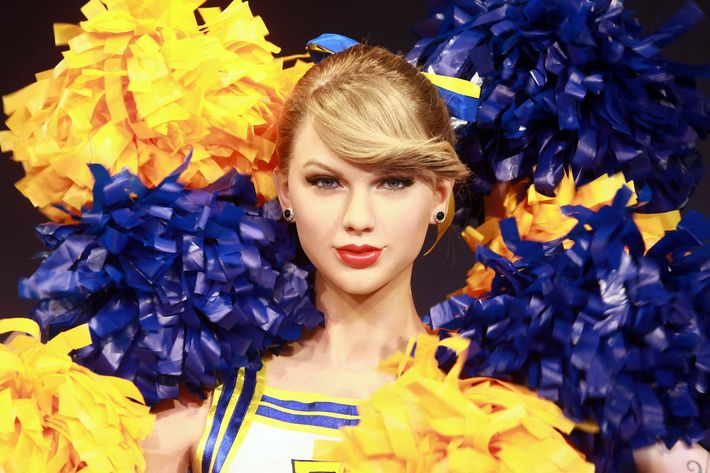 Wax Taylor Swift at Madame Tussauds in London.