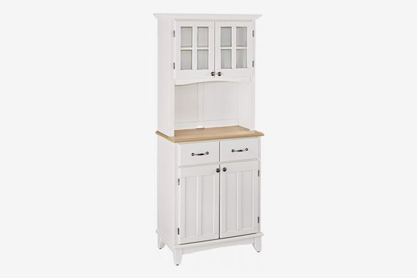 Home Styles Buffet of Buffet White with Wood Top with Buffet