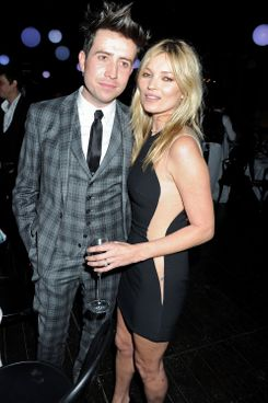 Nick Grimshaw and Kate Moss.