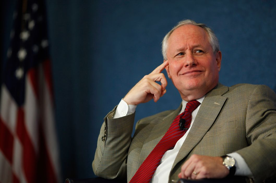 "The Weekly Standard Editor William Kristol (L) leads a discussion on PayPal co-founder and former CEO Peter Thiel's National Review article, ""The End of the Future,"" at the National Press Club October 3, 2011 in Washington, DC."