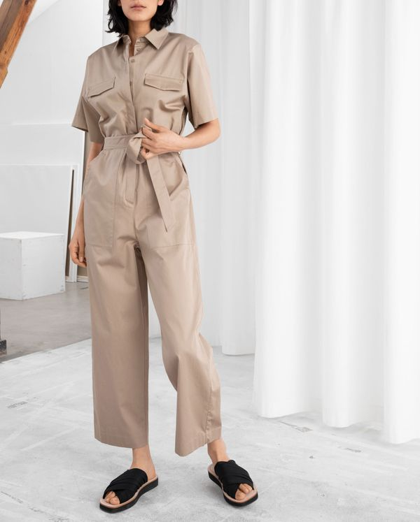 Belted Cotton Workwear Boilersuit