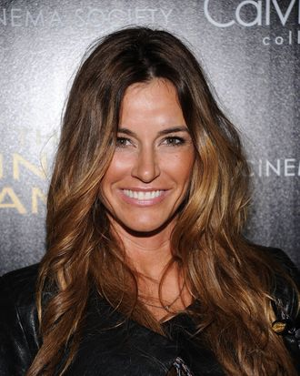 NEW YORK, NY - MARCH 20: TV Personality Kelly Bensimon attends the Cinema Society & Calvin Klein Collection screening of