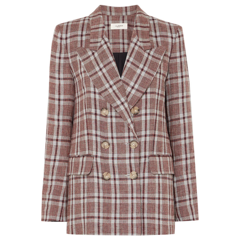 Ianey checked linen blazer