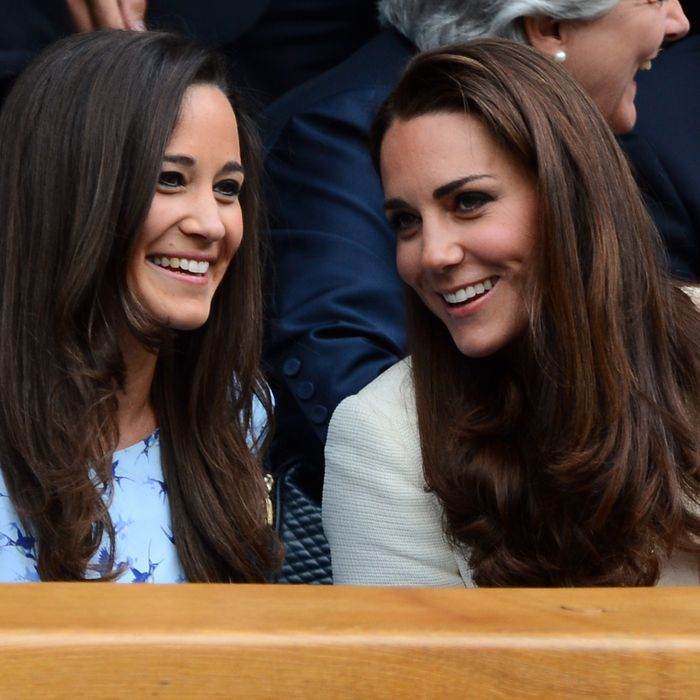 Pippa and Kate Middleton.