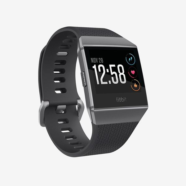 charcoal smoke gray fitbit ionic smartwatch - strategist fitness trackers on sale