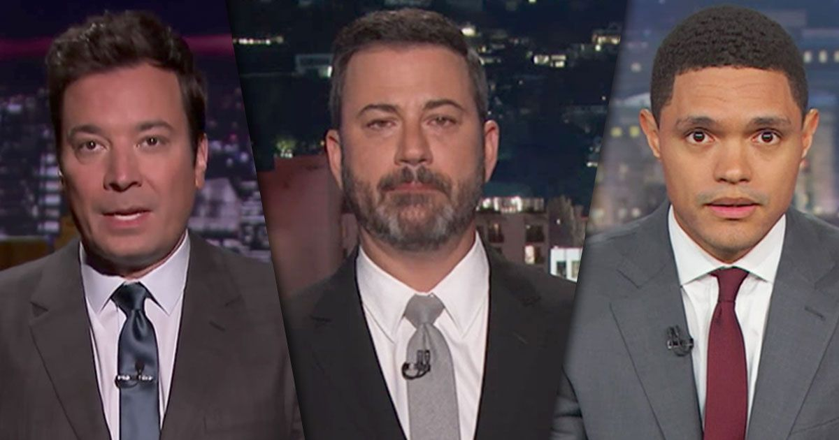 Late-Night Hosts Argue for Gun Control After Vegas Shooting