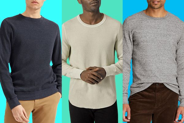 Thermal Top Mens Classic Crewneck Waffle Knit Thermal Top