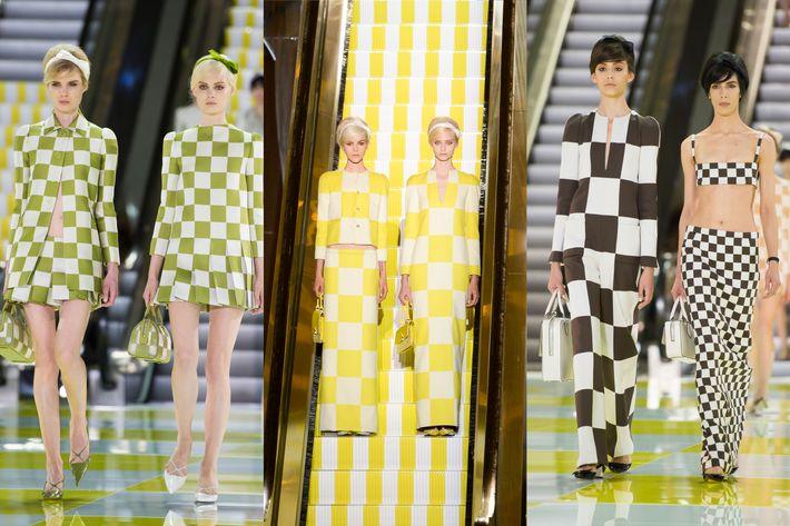 The Louis Vuitton escalator.