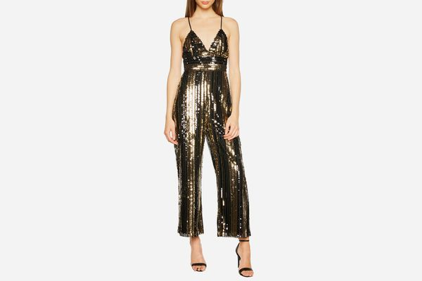 Bardot Goldie Sequin Stripe Jumpsuit