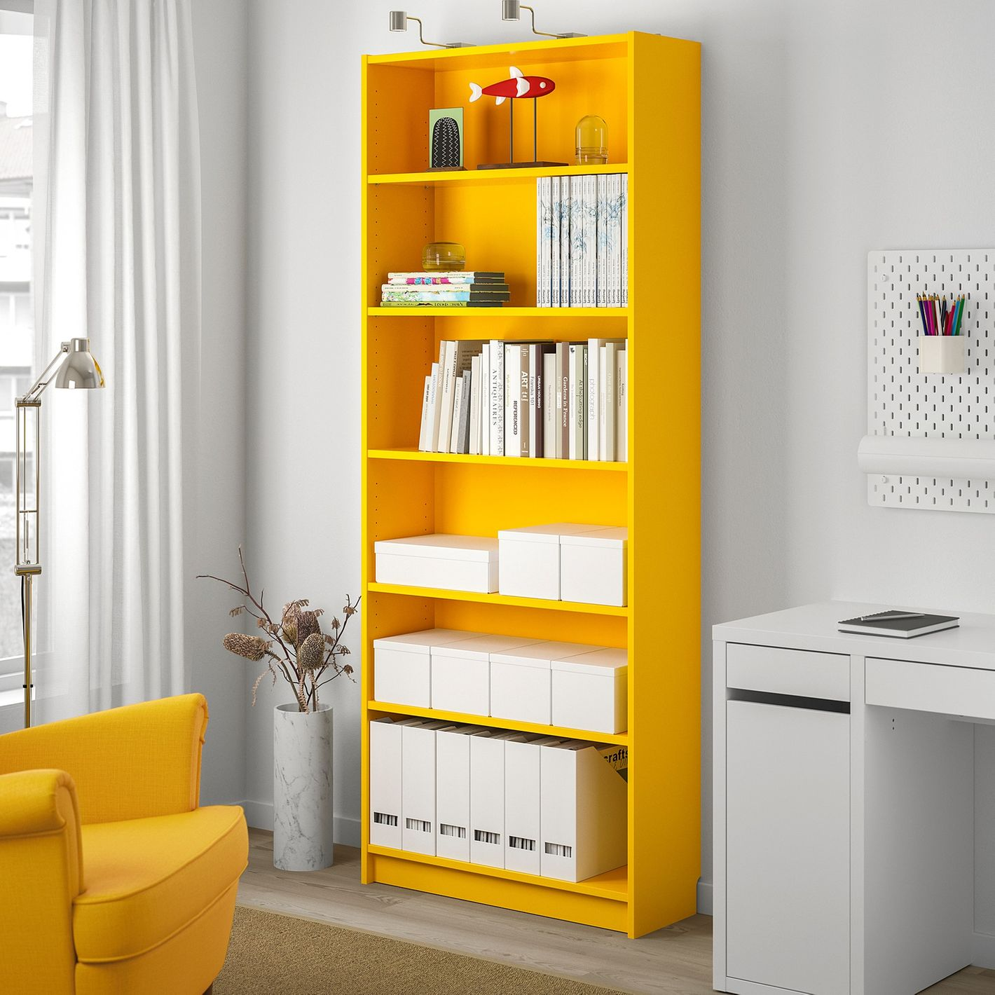 Ikea Billy Bookcase, Yellow