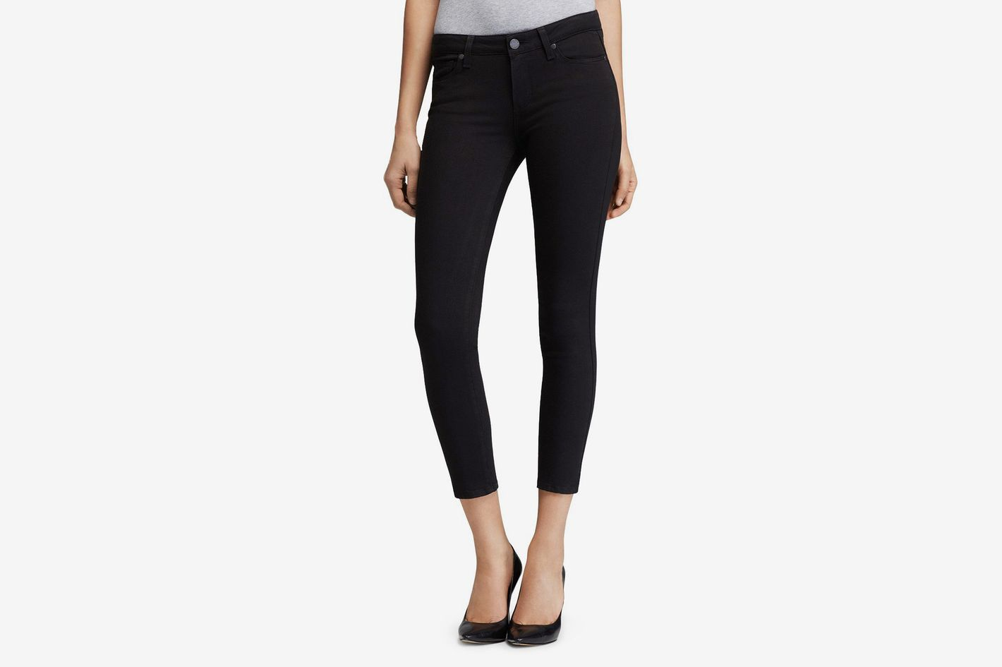Paige Transcend Verdugo Crop Jeans in Black Overdye