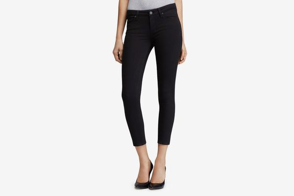 Paige Transcend Verdugo Crop Jeans in Black Overdye