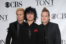 (L-R) Musicians Mike Dirnt, Billy Joe Armstrong and Tre Cool of Green Day