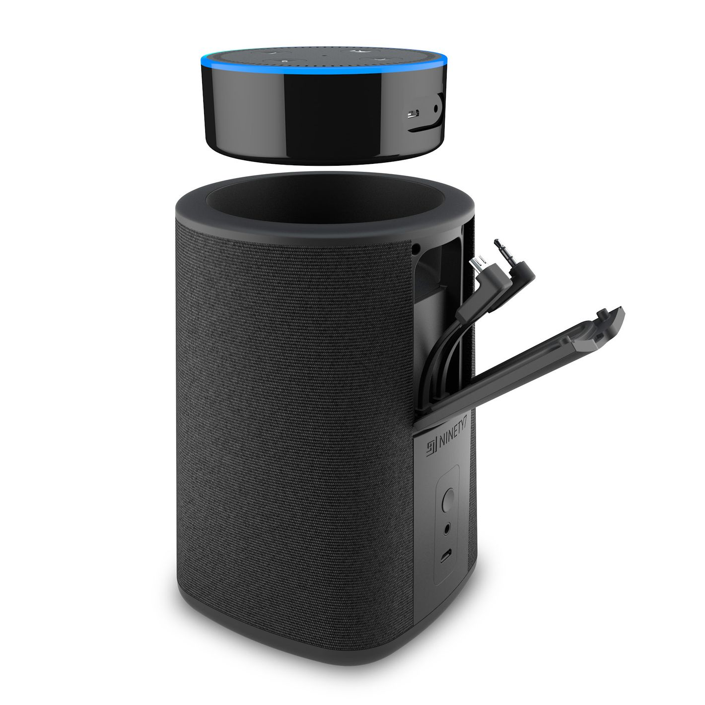 Ninety7 VAUX Portable Battery for Echo Dot