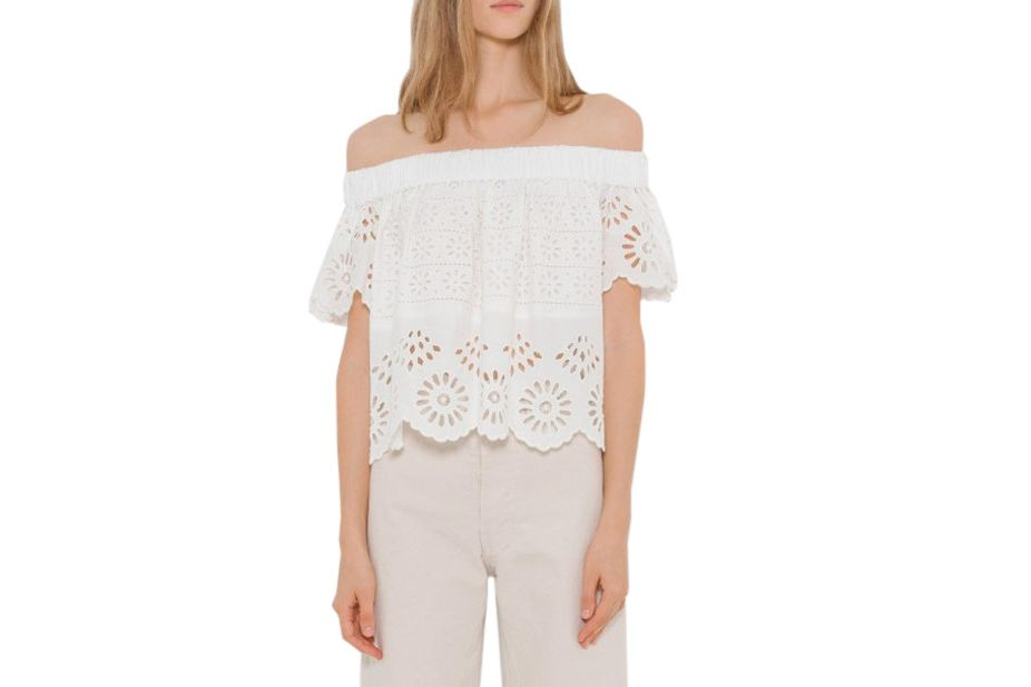 Sea NY Eyelet Off Shoulder Top