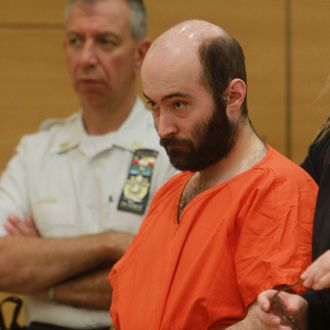Levi Aron is arraigned in Brooklyn criminal court, Thursday, Aug. 4, 2011 in New York.