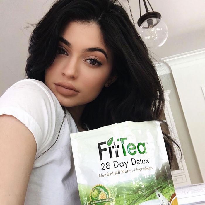 Kylie Jenner with her favorite drink ever!