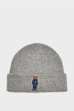 Polo Ralph Lauren Sweater Bear Hat in Andover Heather