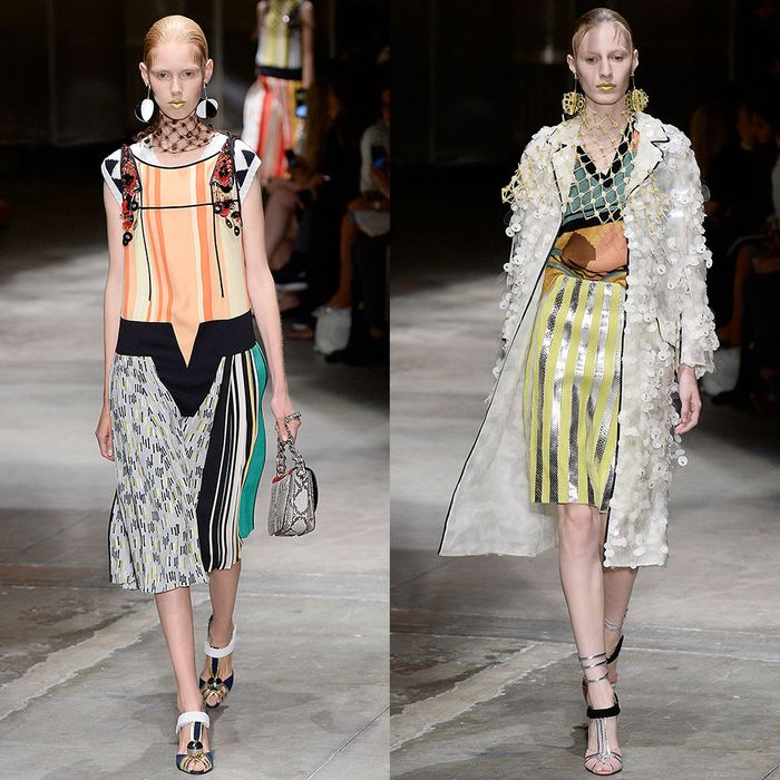 f14d5beacb6 Prada Embraces a Giddy Maximalism for Spring 2016