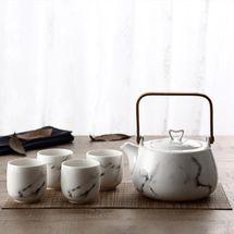 Fint Design Nordic Marble Ceramic Tea Set