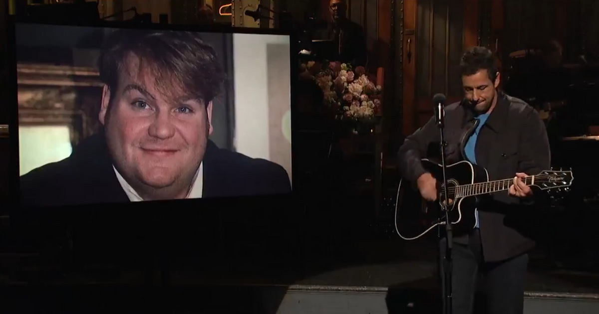 Watch Adam Sandler's Moving Tribute to Chris Farley on SNL