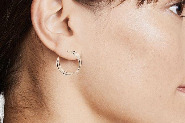 Shashi Double Bar Hoop Earrings