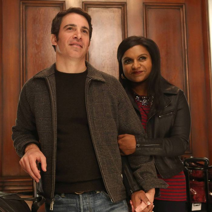 THE MINDY PROJECT: Mindy (Mindy Kaling, R) and Danny (Chris Messina, L) return from Los Angeles in Part One of the one-hour