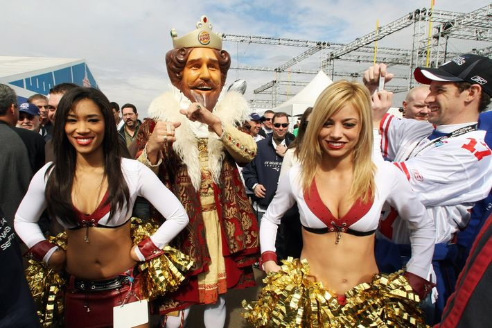 The Burger King attends Super Bowl XLII