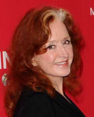 LOS ANGELES, CA - FEBRUARY 10: Musician Bonnie Raitt arrives at the 2012 MusiCares Person of the Year Tribute To Paul McCartney held at the Los Angeles Convention Center on February 10, 2012 in Los Angeles, California. (Photo by Jason Merritt/Getty Images)