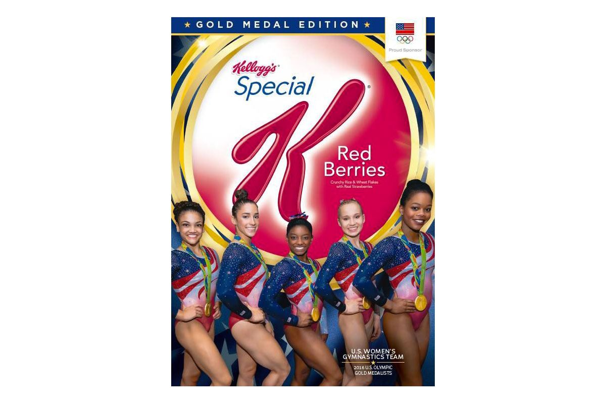 USA's Final Five gymnasts make Kellogg's cereal box after gold medal